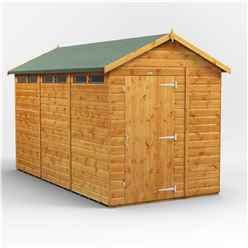 12 x 6 Security Tongue and Groove Apex Shed - Single Door - 6 Windows - 12mm Tongue and Groove Floor and Roof