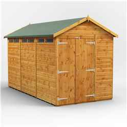 12 x 6 Security Tongue and Groove Apex Shed - Double Doors - 6 Windows - 12mm Tongue and Groove Floor and Roof