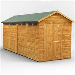 16 x 6 Security Tongue and Groove Apex Shed - Single Door - 8 Windows - 12mm Tongue and Groove Floor and Roof