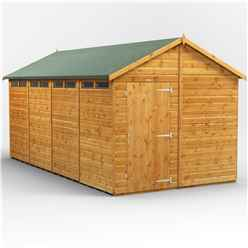 16 x 8 Security Tongue and Groove Apex Shed - Single Door - 8 Windows - 12mm Tongue and Groove Floor and Roof