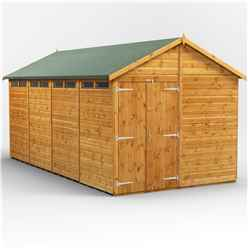 16 x 8 Security Tongue and Groove Apex Shed - Double Doors - 8 Windows - 12mm Tongue and Groove Floor and Roof