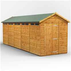 20 x 6 Security Tongue and Groove Apex Shed - Single Door - 10 Windows - 12mm Tongue and Groove Floor and Roof