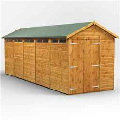 20 x 6 Security Tongue and Groove Apex Shed - Double Doors - 10 Windows - 12mm Tongue and Groove Floor and Roof