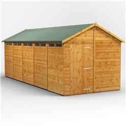 20 x 8 Security Tongue and Groove Apex Shed - Single Door - 10 Windows - 12mm Tongue and Groove Floor and Roof