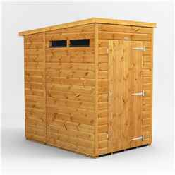 4 X 6 Security Tongue And Groove Pent Shed - Single Door - 2 Windows - 12mm Tongue And Groove Floor And Roof