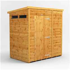 6 X 6 Security Tongue And Groove Pent Shed - Single Door - 2 Windows - 12mm Tongue And Groove Floor And Roof