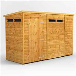 10 X 4 Security Tongue And Groove Pent Shed - Single Door - 4 Windows - 12mm Tongue And Groove Floor And Roof