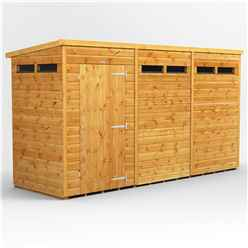 12 X 6 Security Tongue And Groove Pent Shed - Double Doors - 6 Windows - 12mm Tongue And Groove Floor And Roof