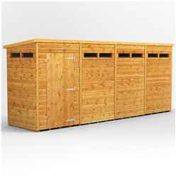 16 X 6 Security Tongue And Groove Pent Shed - Single Door - 8 Windows - 12mm Tongue And Groove Floor And Roof