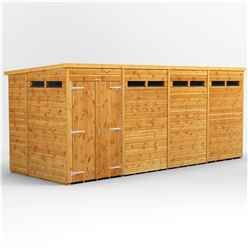 16 X 6 Security Tongue And Groove Pent Shed - Double Doors - 8 Windows - 12mm Tongue And Groove Floor And Roof