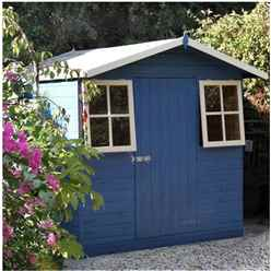 INSTALLED 7 x 7 (2.05m x 2.13m) - Tongue & Groove - Apex Garden Shed - 2 Windows - Single Door - 12mm Tongue and Groove Floor INSTALLATION INCLUDED
