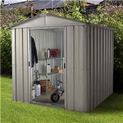 "6ft 1"" x 7ft 5"" Apex Metal Shed With Free Anchor Kit (2.02m x 2.37m)"