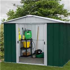 "7ft 5"" x 6ft 10"" Apex Metal Shed With Free Anchor Kit (2.26m x 2.07m)"