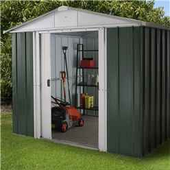 "7ft 5"" x 8ft 9"" Apex Metal Shed With Free Anchor Kit (2.26m x 2.67m"