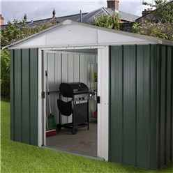 "9ft 4"" x 7ft 5"" Apex Metal Shed With Free Anchor Kit (2.85m x 2.26m"