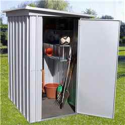 "3ft 5"" x 4ft 9"" Pent Metal Shed + Free Anchor Kit (1.04m x 1.44m)"
