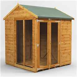 6 X 6 Premium Tongue And Groove Apex Summerhouse - Double Doors - 12mm Tongue And Groove Floor And Roof