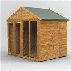 6 x 8  Premium Tongue and Groove Apex Summerhouse - Double Doors - 12mm Tongue and Groove Floor and Roof