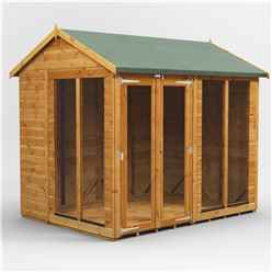 8 X 6 Premium Tongue And Groove Apex Summerhouse - Double Doors - 12mm Tongue And Groove Floor And Roof