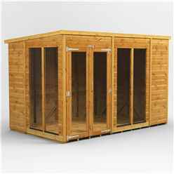 10 X 6 Premium Tongue And Groove Pent Summerhouse - Double Doors - 12mm Tongue And Groove Floor And Roof