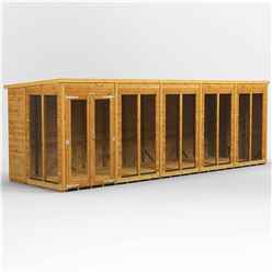 20 X 6 Premium Tongue And Groove Pent Summerhouse - Double Doors - 12mm Tongue And Groove Floor And Roof