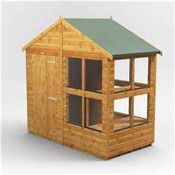 4 x 8 Premium Tongue and Groove Apex Potting Shed - Single Door - 8 Windows - 12mm Tongue and Groove Floor and Roof