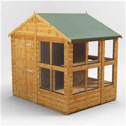6 x 8 Premium Tongue and Groove Apex Potting Shed - Single Door - 10 Windows - 12mm Tongue and Groove Floor and Roof