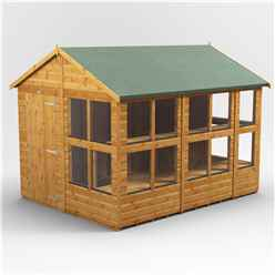 10 x 8 Premium Tongue and Groove Apex Potting Shed - Single Door - 14 Windows - 12mm Tongue and Groove Floor and Roof