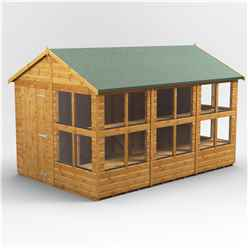 12 x 8 Premium Tongue and Groove Apex Potting Shed - Single Door - 16 Windows - 12mm Tongue and Groove Floor and Roof
