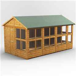 14 x 8 Premium Tongue and Groove Apex Potting Shed - Single Door - 18 Windows - 12mm Tongue and Groove Floor and Roof