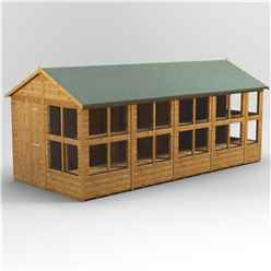 18 x 8 Premium Tongue and Groove Apex Potting Shed - Single Door - 22 Windows - 12mm Tongue and Groove Floor and Roof