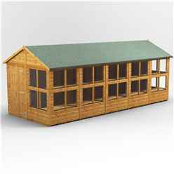 20 x 8 Premium Tongue and Groove Apex Potting Shed - Single Door - 24 Windows - 12mm Tongue and Groove Floor and Roof