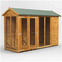 10 X 4 Premium Tongue And Groove Apex Summerhouse - Double Doors - 12mm Tongue And Groove Floor And Roof