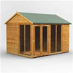10 X 8 Premium Tongue And Groove Apex Summerhouse - Double Doors - 12mm Tongue And Groove Floor And Roof