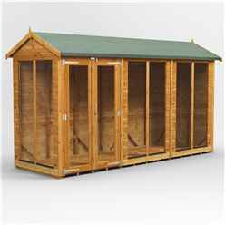 12 X 4 Premium Tongue And Groove Apex Summerhouse - Double Doors - 12mm Tongue And Groove Floor And Roof