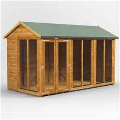 12 X 8 Premium Tongue And Groove Apex Summerhouse - Double Doors - 12mm Tongue And Groove Floor And Roof