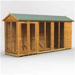 14 X 4 Premium Tongue And Groove Apex Summerhouse - Double Doors - 12mm Tongue And Groove Floor And Roof
