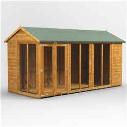 14 X 6 Premium Tongue And Groove Apex Summerhouse - Double Doors - 12mm Tongue And Groove Floor And Roof