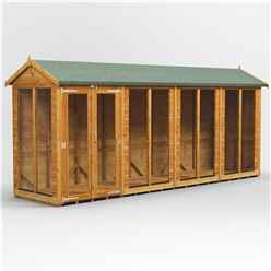 16 X 4 Premium Tongue And Groove Apex Summerhouse - Double Doors - 12mm Tongue And Groove Floor And Roof