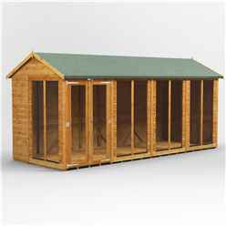 16 X 6 Premium Tongue And Groove Apex Summerhouse - Double Doors - 12mm Tongue And Groove Floor And Roof