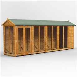 18 X 4 Premium Tongue And Groove Apex Summerhouse - Double Doors - 12mm Tongue And Groove Floor And Roof