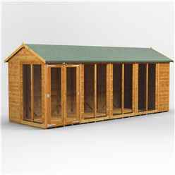 18 X 8 Premium Tongue And Groove Apex Summerhouse - Double Doors - 12mm Tongue And Groove Floor And Roof