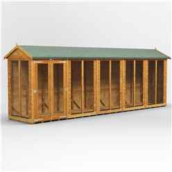 20 X 4 Premium Tongue And Groove Apex Summerhouse - Double Doors - 12mm Tongue And Groove Floor And Roof