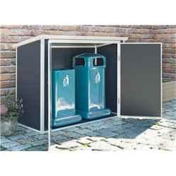 6 x 3 Plastic Storage Unit - Dark Grey with Foundation Kit (included)
