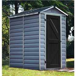 OOS PRE-ORDER 4 X 6 (1.22m x 1.83m) Single Door Apex Plastic Shed With Skylight Roofing