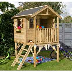 """6'6"""" x 6' 2"""" Lookout Playhouse (2.05m X 1.89m)"""