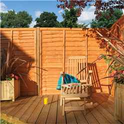 6 x 5 Traditional Lap Fence Panel Dip Treated - Minimum Order of 3 Panels