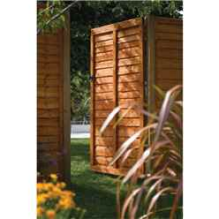 6 x 3 Traditional Lap Fence Gate Dip Treated
