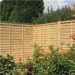 6 x 3 Traditional Lap Fence Panel Pressure Treated - Minimum Order of 3 Panels