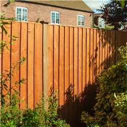 6 x 6 Vertical Board Fence Panel Dip Treated - Minimum Order of 3 Panels